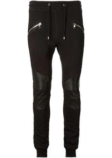 Balmain biker skinny track trousers