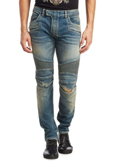 Balmain Biker Stretch Slim-Fit Jeans
