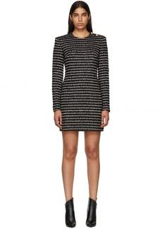 Balmain Black & White Striped Dress