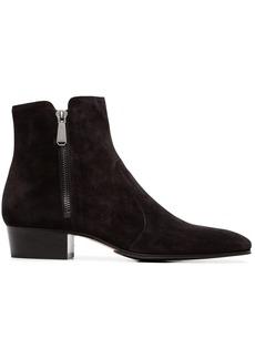 Balmain black 40 suede ankle boots