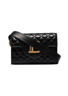 Balmain B-Envelope quilted leather clutch