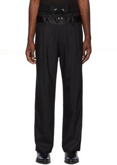 Balmain Black Double Waistband Trousers