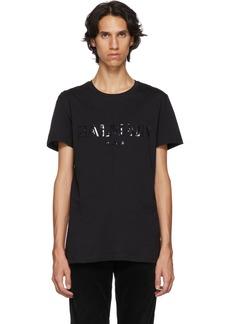 Balmain Black Glossy Logo T-Shirt