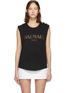 Balmain Black Logo Tank Top
