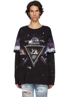 Balmain Black Pyramid Long Sleeve T-Shirt
