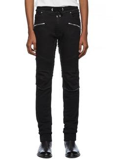 Balmain Black Raw Lounge Pants