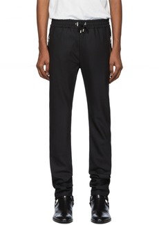 Balmain Black Satin Lounge Pants