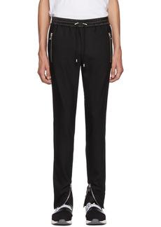 Balmain Black Stripe Wool Trousers