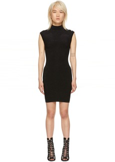Balmain Black Turtleneck Dress