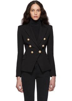 Balmain Black Wool Double-Breasted Blazer