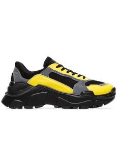 Balmain black, yellow and grey jace technical sneakers
