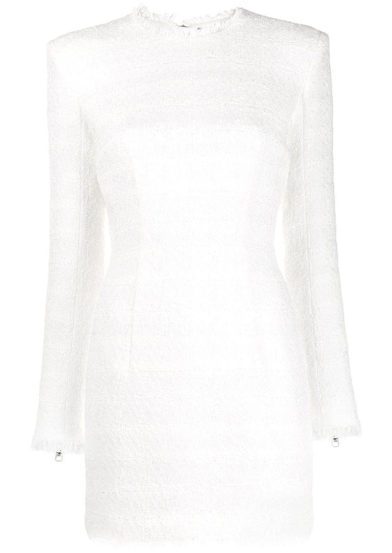 Balmain bouclé tweed mini dress
