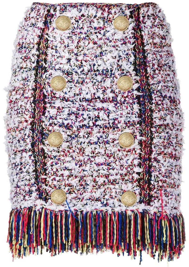 Balmain bouclé tweed mini skirt