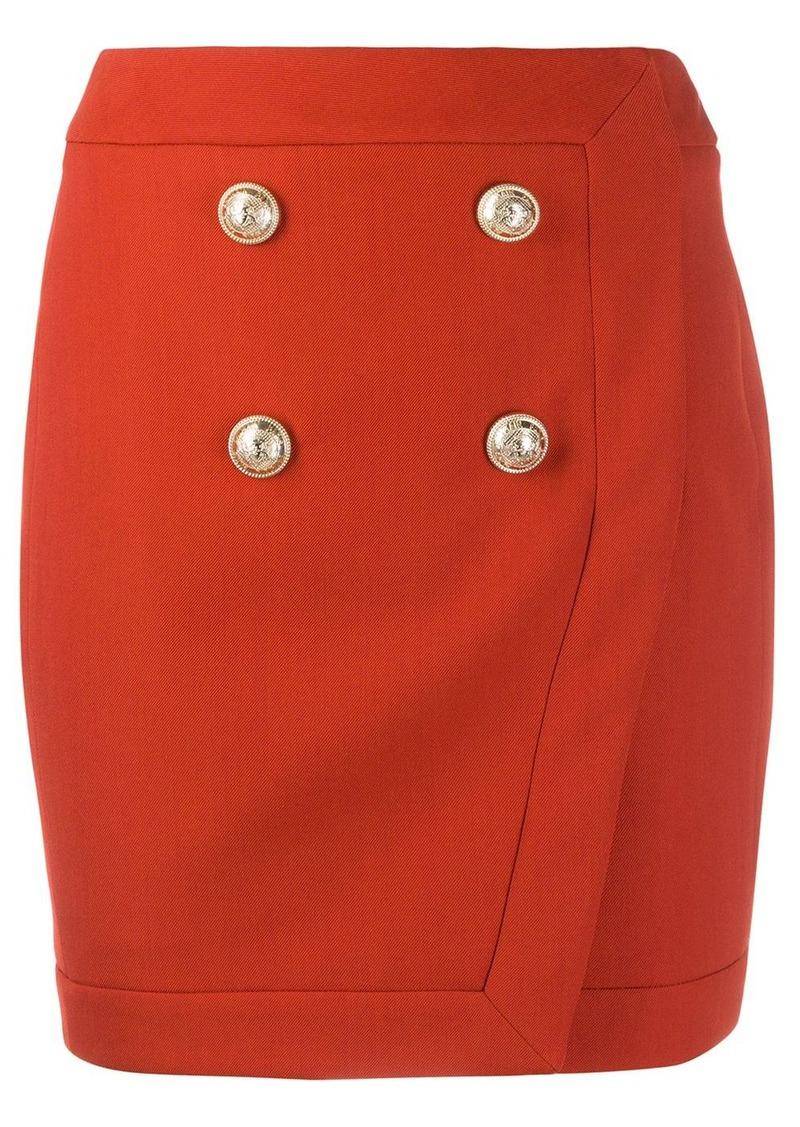 Balmain button detail skirt
