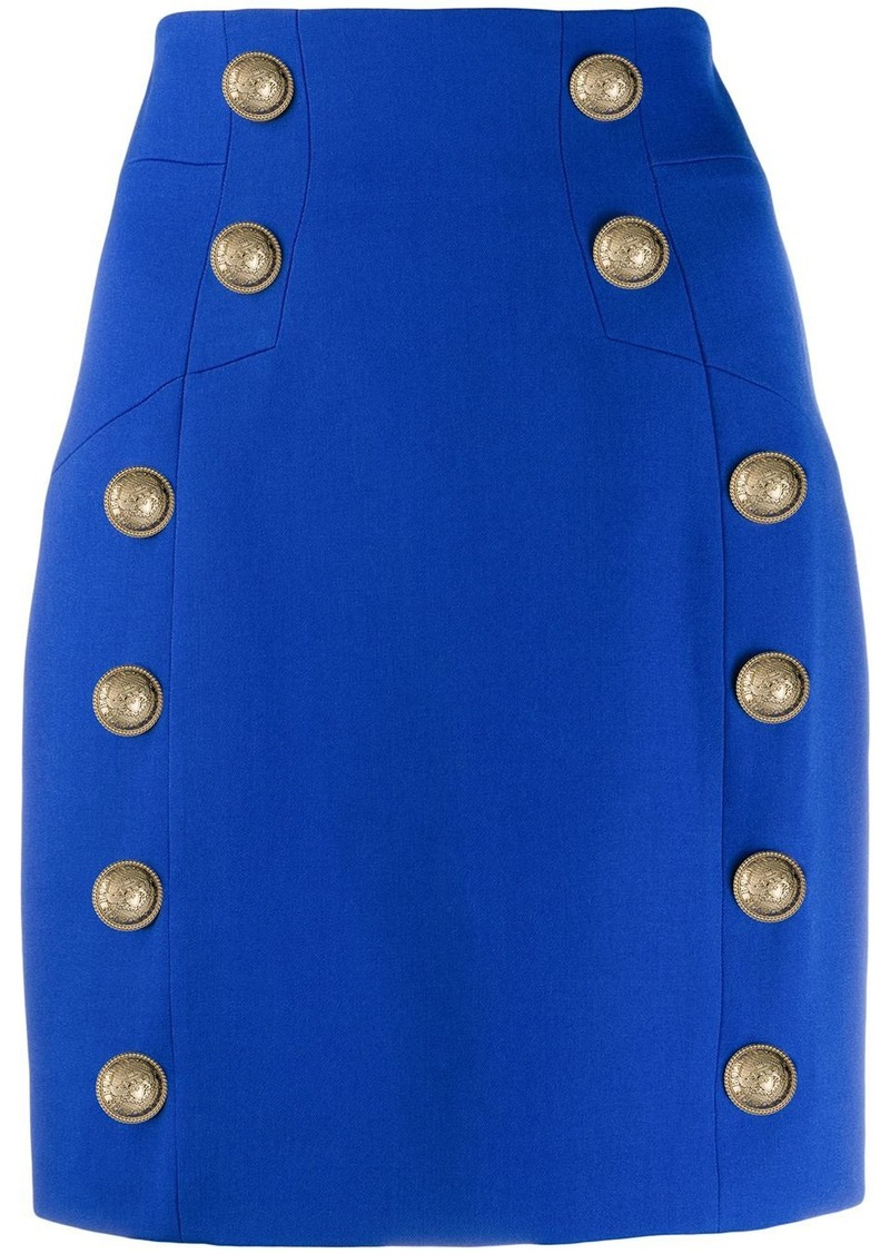 Balmain button-detailed mini skirt