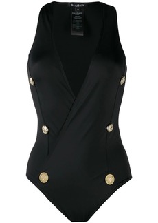 Balmain button detailed swimsuit