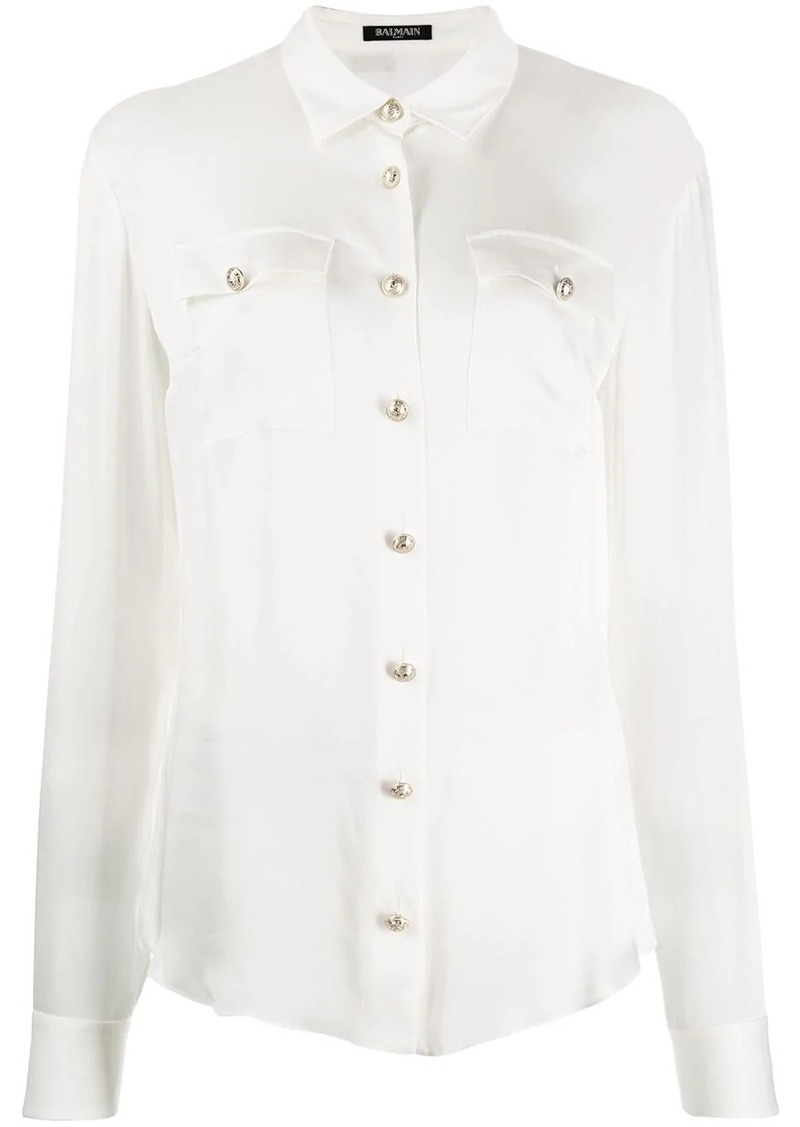 Balmain button-down tailored blouse
