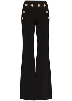 Balmain button-embellished flared trousers