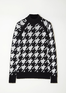 Balmain Button-embellished Houndstooth Knitted Sweater