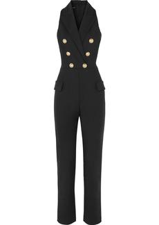 Balmain Button-embellished Wool-blend Jumpsuit