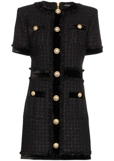 Balmain buttoned mini dress