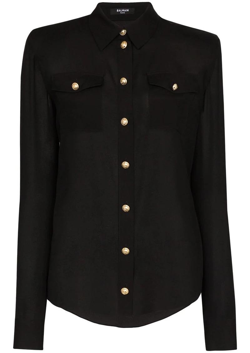 Balmain buttoned silk shirt