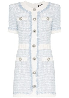 Balmain buttoned tweed mini dress