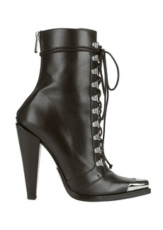 Balmain Calamity Lace-Up Booties