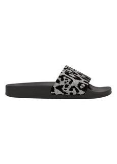 Balmain Calypso Leopard Pool Sandal