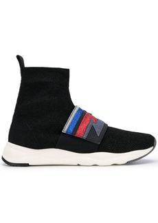 Balmain Cameron glittered sneakers