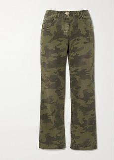 Balmain Camouflage-print High-rise Straight-leg Jeans