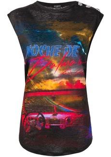 Balmain car print tank top