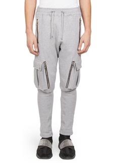 Balmain Cargo Zip Sweatpants