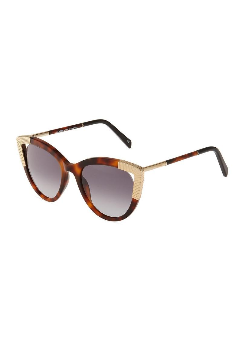 aec21188e9f41 Balmain Cat-Eye Tortoiseshell Acetate Sunglasses