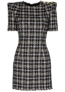 Balmain check tweed mini dress