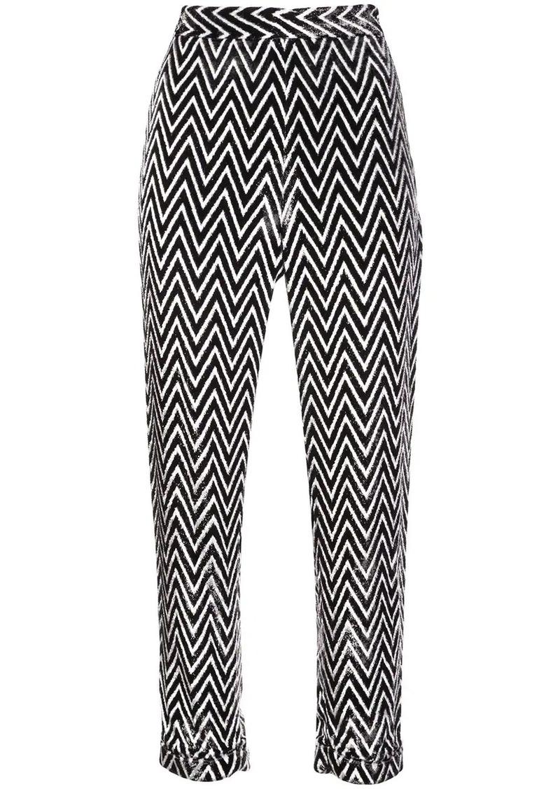 Balmain chevron cropped trousers