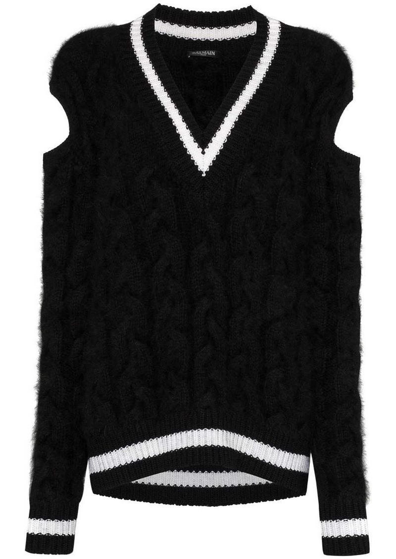 Balmain chunky cable-knit sweater