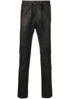 Balmain coated drawstring trousers