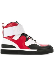Balmain colour block hi-top sneakers