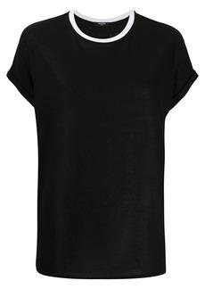 Balmain contrast crew neck T-shirt