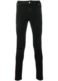 Balmain contrast side panels trousers