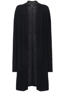 Balmain Cotton & Tech Jersey Long Cardigan