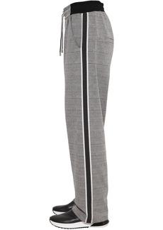 Balmain Cotton Blend Jersey Sweatpants W/ Bands