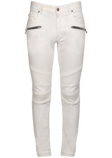 Balmain Cotton Denim Slim Jeans