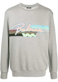 Balmain cotton logo-print sweatshirt