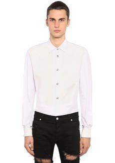 Balmain Cotton Poplin Plastron Shirt