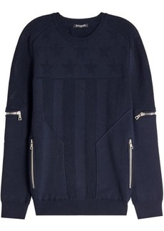 Balmain Cotton Pullover with Zippers