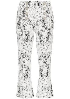 Balmain cracked-effect trousers
