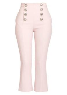 Balmain Cropped Flare Button Pants