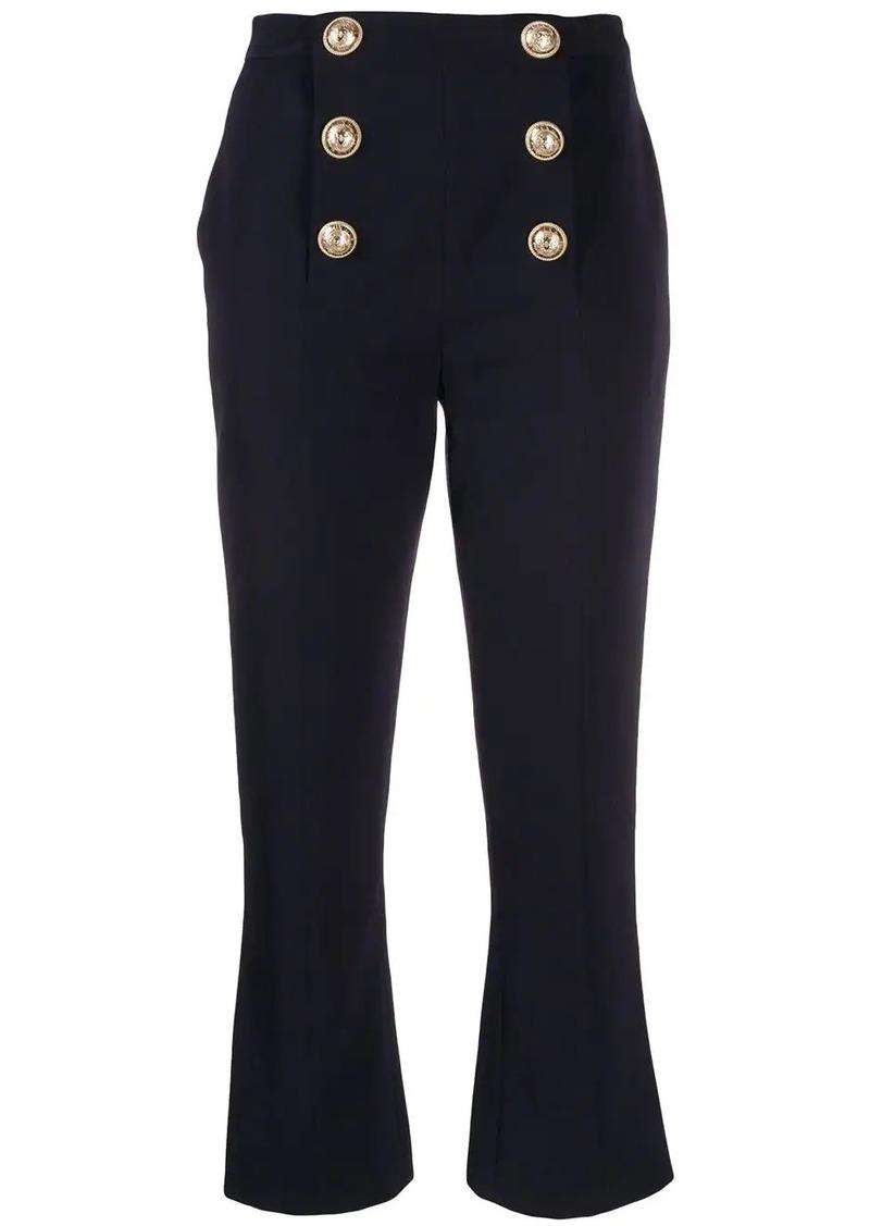 Balmain cropped flared trousers